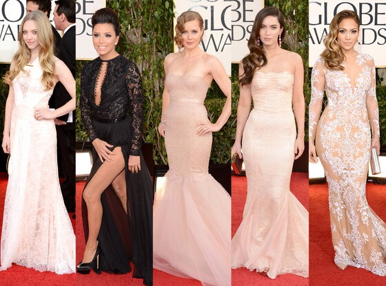 Trend Alert: Lace, Amanda Seyfried, Eva Longoria, Amy Adams, Megan Fox , Jennifer Lopez