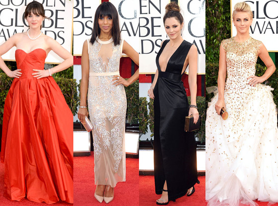 Kerry Washington, Julianne Hough, Zooey Deschanel, Katharine McPhee, Best Dressed Split