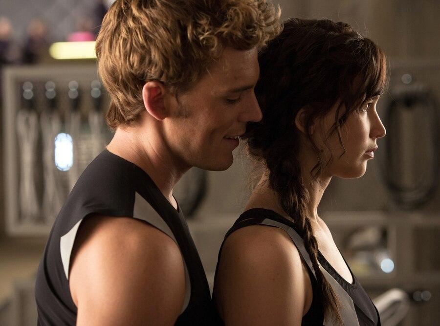 Jennifer Lawrence, Sam Claflin, The Hunger Games, Catching Fire
