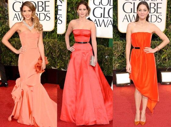 Marion Cotillard, Jessica Alba, Jennifer Lawrence, Golden Globes