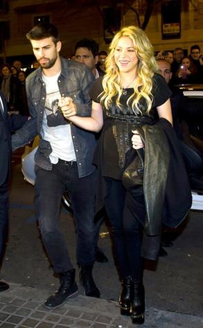 Shakira, Gerard Pique, Barcelona, Spain