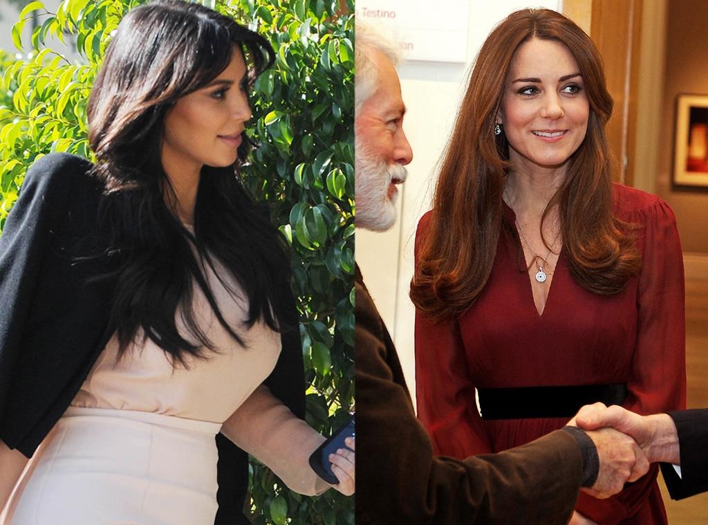 Kim Kardashian, Duchess Catherine, Kate Middleton