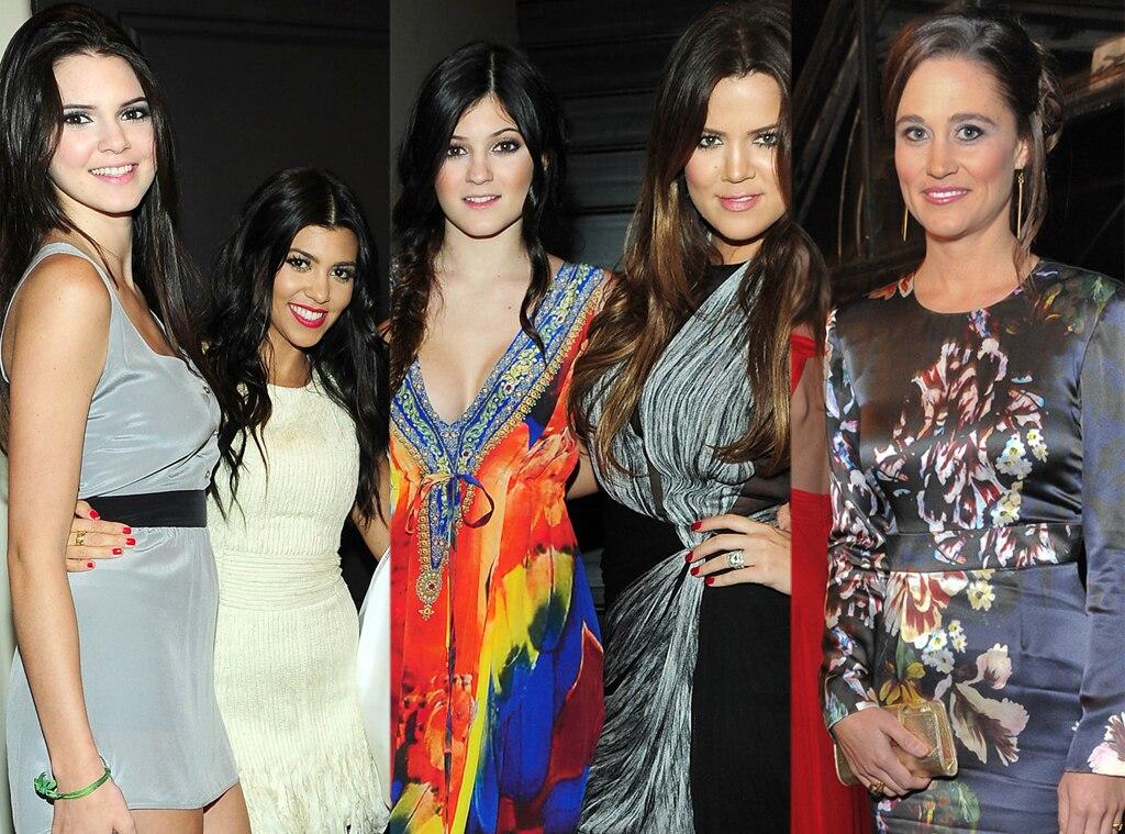 Kendall Jenner, Kourtney Kardashian, Kylie Jenner, Khloe Kardashian Odom, Pippa Middleton