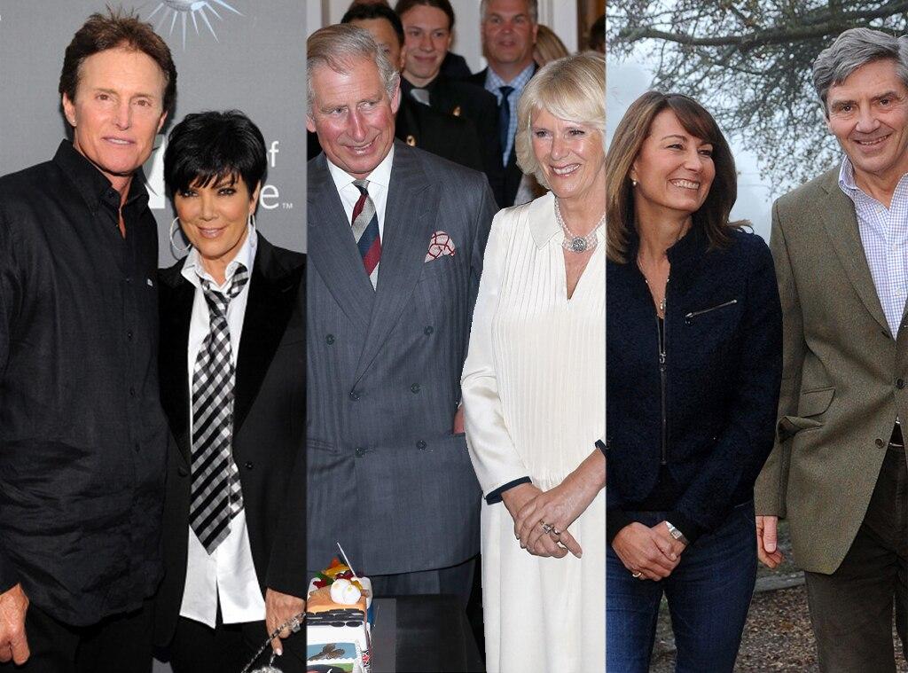 Bruce Jenner, Kris Jenner, Prince Charles, Camila, Carole Middleton, James Middleton