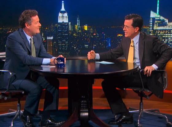Piers Morgan, Stephen Colbert, The Colbert Report