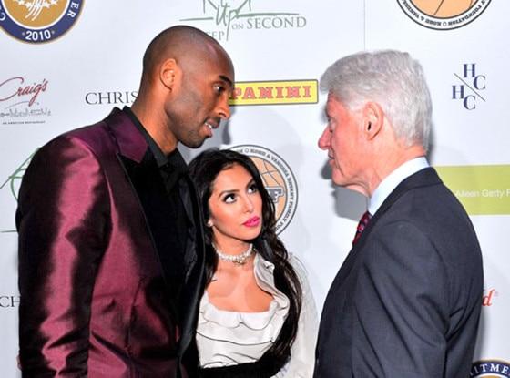 Kobe Bryant, Vanessa Bryant, President Bill Clinton