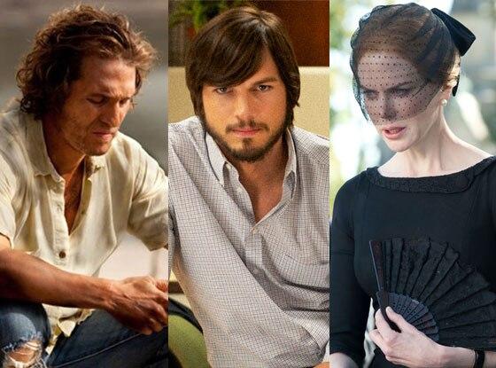 Nicole Kidman, Stoker, Ashton Kutcher, Jobs, Matthew McConaughey, Mud