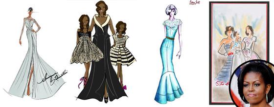Michelle Obama's Inauguration Dress: Fashion Designers ...