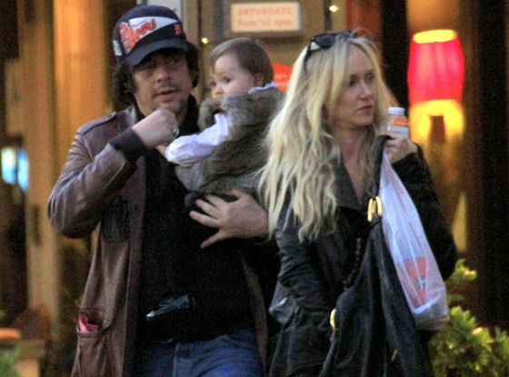 Benicio Del Toro and Kimberly Stewart Take Baby Delilah to ...