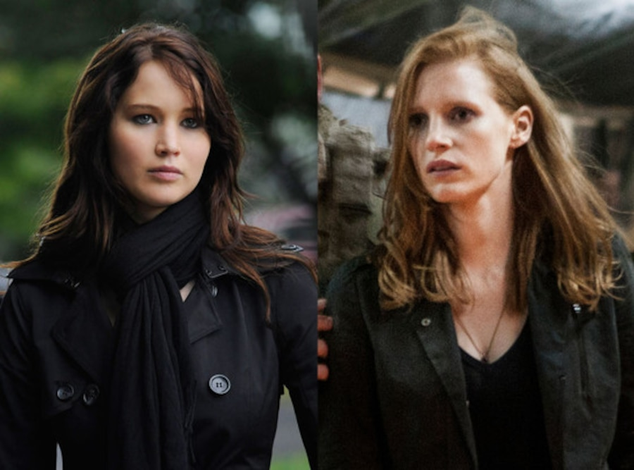 Zero Dark Thirty, Jessica Chastain, Jennifer Lawrence, Silver Linings Playbook
