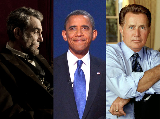 Daniel Day Lewis, Lincoln, President Barack Obama, Martin Sheen, The West Wing