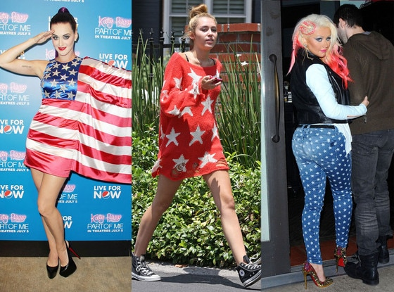 Katy Perry, Miley Cyrus, Christina Aguilera