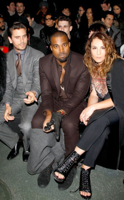Kanye West, Scott Disick, and Naomi Rapace