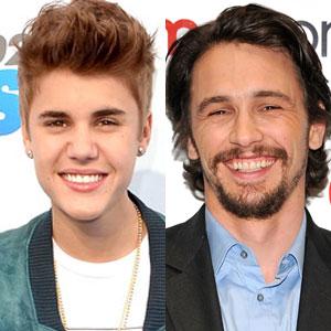 James Franco, Justin Bieber