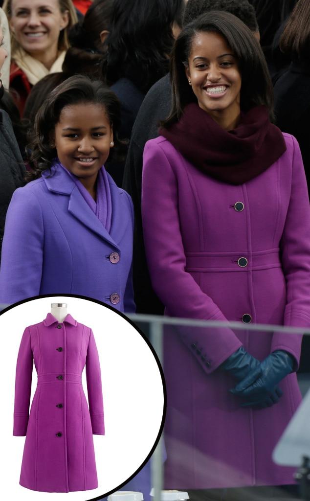 Sasha Obama, Malia Obama, J. Crew