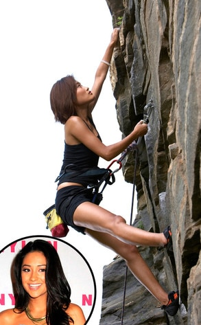 Shay Mitchell, Rock climbing