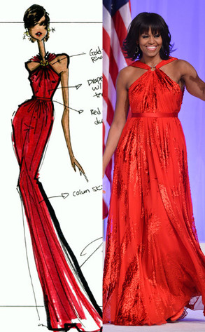 Michelle Obama, Jason Wu Sketch