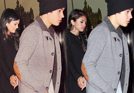 Kylie Jenner, Selena Gomez, Justin Bieber