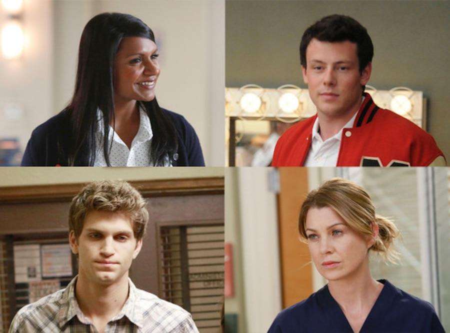 Cory Monteith, Glee, Mindy Kaling, The Mindy Project, Keegan Allen, Pretty Little Liars, Ellen Pompeo, Grey's Anatomy