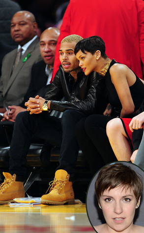 Chris brown, Rihanna, Lena Dunham