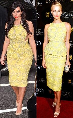 Charlize Theron, Kim Kardashian