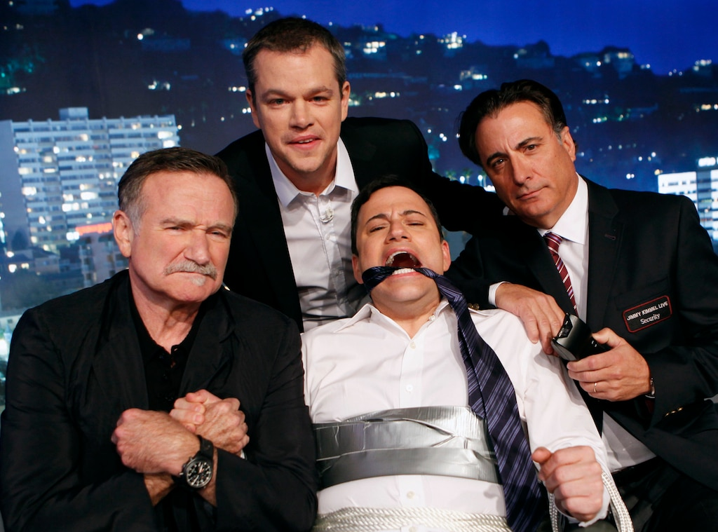 Matt Damon, Robin Williams, Andy Garcia, Jimmy Kimmel Live