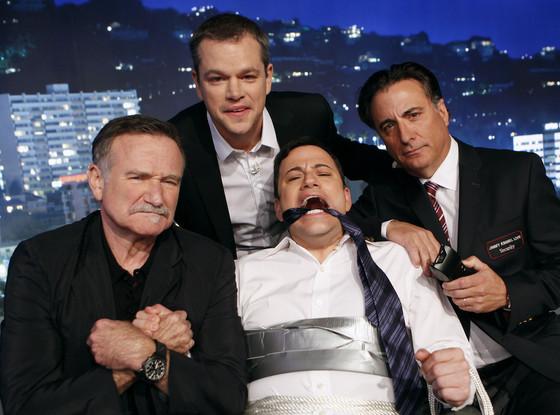 Matt Damon, Robin Williams, Andy Garcia, Jimmy Kimmel Live