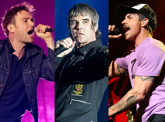 Blur, The Red Hot Chili Peppers, Stone Roses
