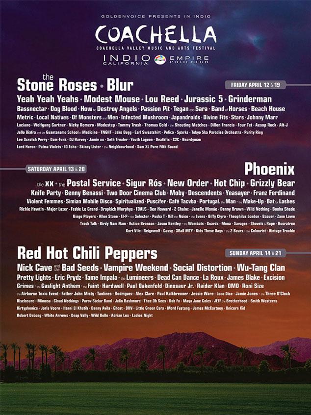 2013 Coachella Lineup