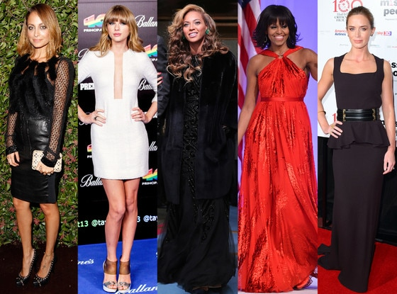 Nicole Richie, Taylor Swift, Beyonce, Michelle Obama, Emily Blunt