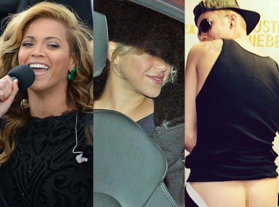 Beyonce, Shakira, Justin Bieber