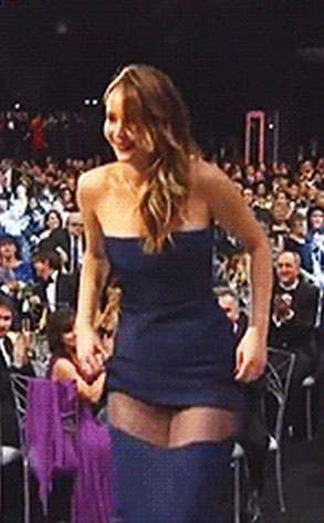 Jennifer Lawrence, SAG Wardrobe Malfunction