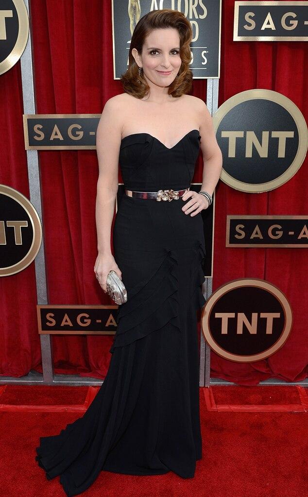 Tina Fey, SAG Arrivals, Oscar de la Renta