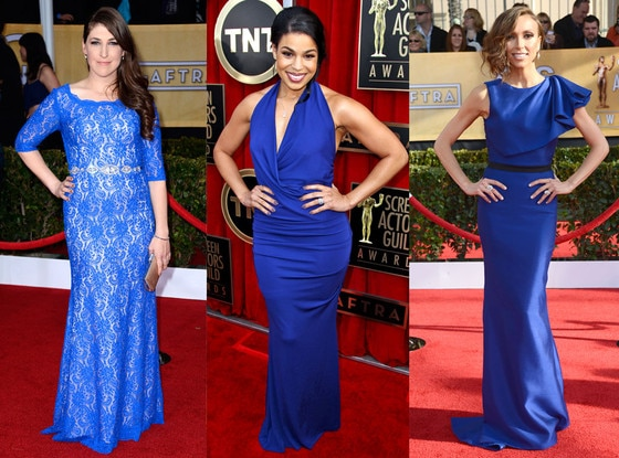 SAG Blue Dress Trend, Mayim Bialik, Jordin Sparks, Giuliana Rancic