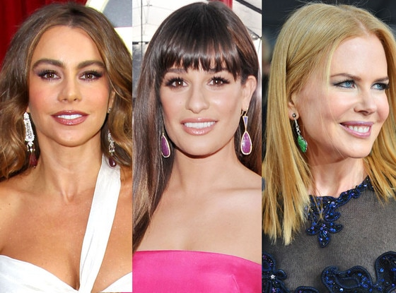 SAG Earrings Trends, Sofia Vergara, Lea Michele, Nicole Kidman