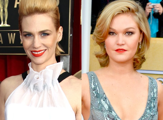 Lips, January Jones, Julia Stiles SAG Awards