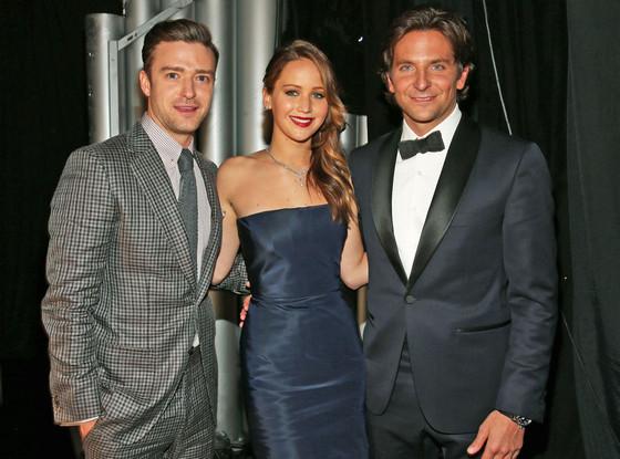 Justin Timberlake, Bradley Cooper, and Jennifer Lawrence, SAG Arrivals