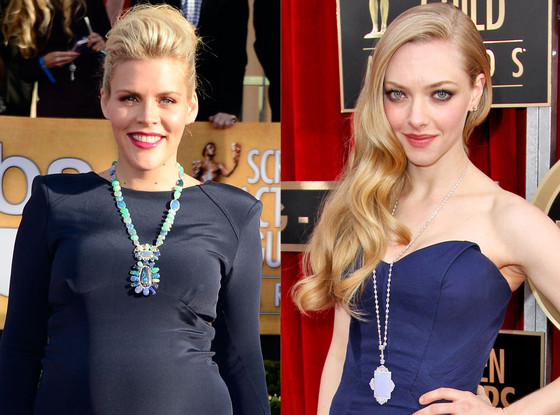 SAG Necklace Trends, Amanda Seyfried, Busy Phillip