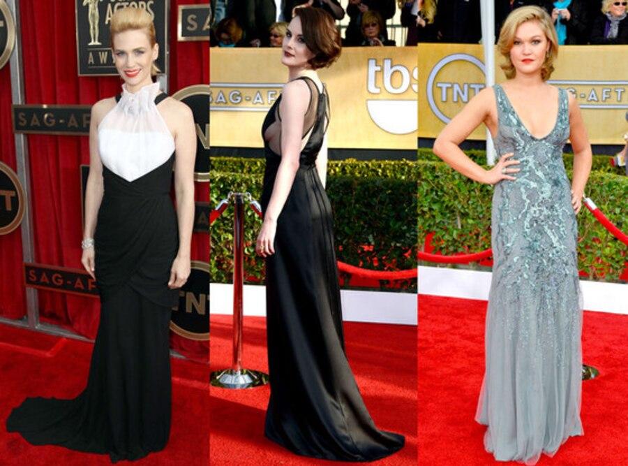 Riskiest Looks, January Jones, Michelle Dockery, Julia Stiles