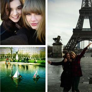 Taylor Swift, Hailee Steinfeld, Paris Twit Pic