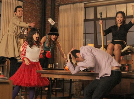 New Girl, Jake Johnson, Zooey Deschanel, Brooklyn Decker, Max Greenfield, Brenda Song