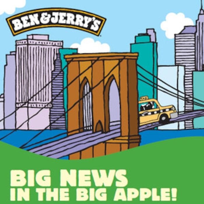 Ben & Jerry's Poster, New York Flavor Event