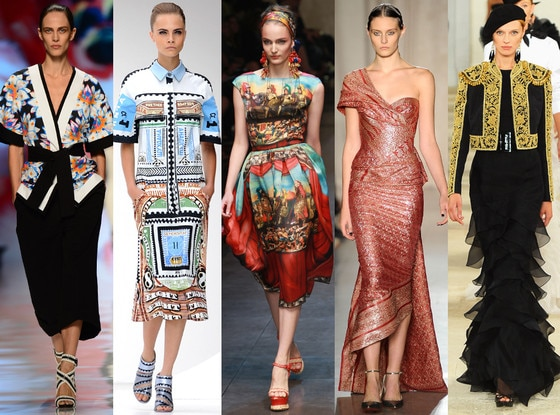 GLOBAL GLAMOUR: Etro, Mary Katrantzou, Dolce & Gabbana, Marchesa, Ralph Lauren