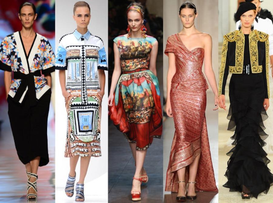 GLOBAL GLAMOUR: Etro, Mary Katrantzou, Dolce & Gabbana, Marchesa, Ralph Lauren