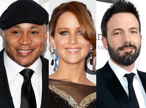 Jennifer Lawrence, LL Cool J, Ben Affleck