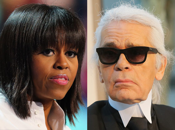 Michelle Obama, Karl Lagerfeld