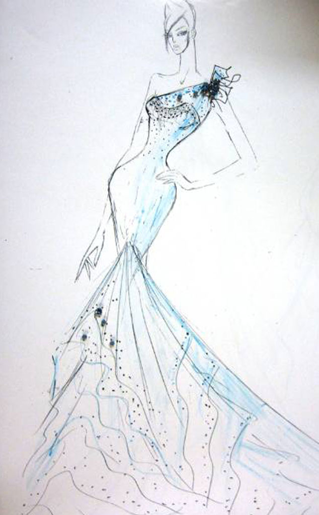 Keira Knightley Bridal Sketch
