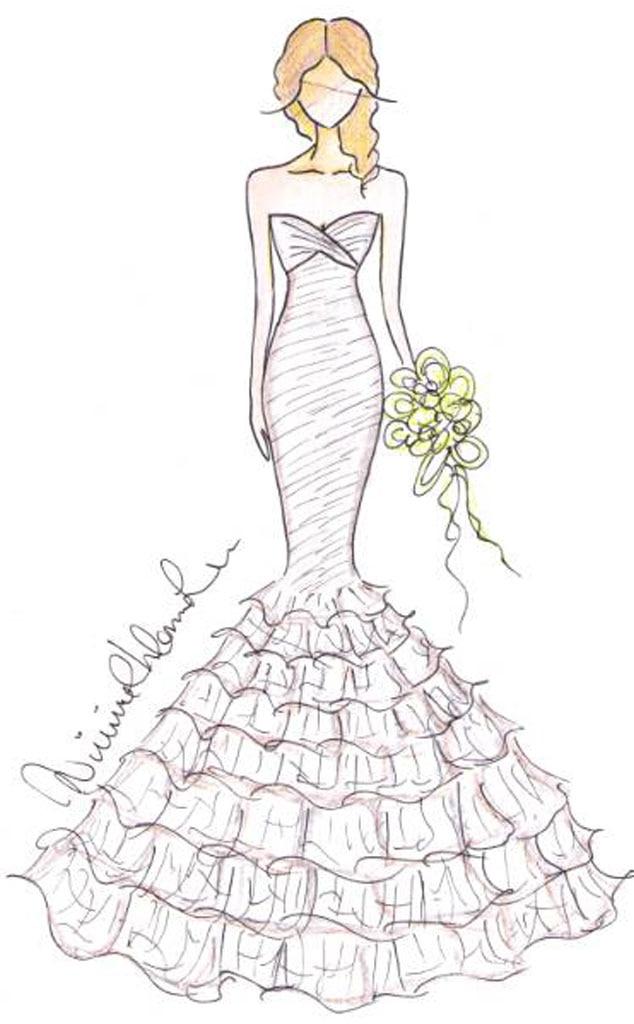 Keira Knightley Bridal Sketch