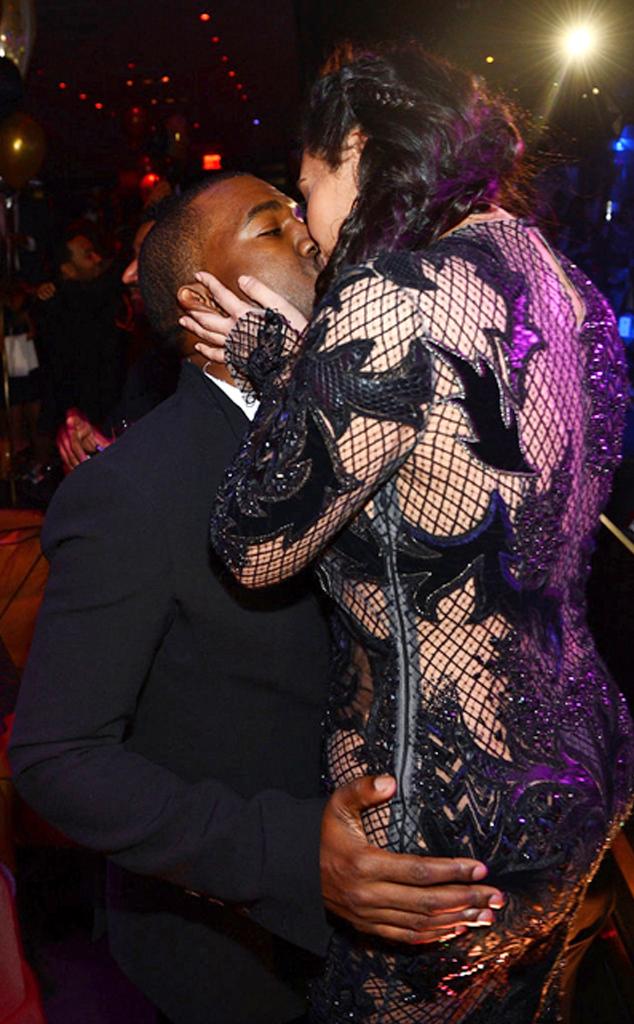 Kim Kardashian, Kanye West, Kiss