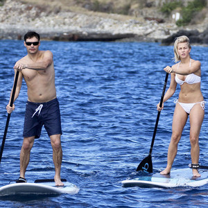 Ryan Seacrest and Julianne Hough Make Waves, Paddleboard on St. Barts Holiday